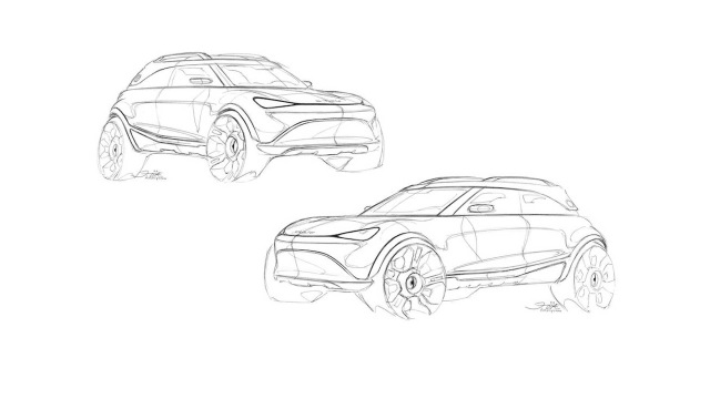Drawings of Smart Concept eSUV