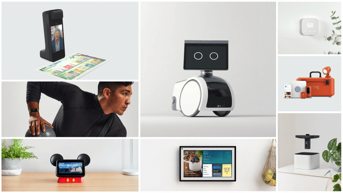 A collage of Amazon's new products.