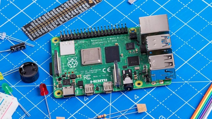 A photo of the Raspberry Pi 4.