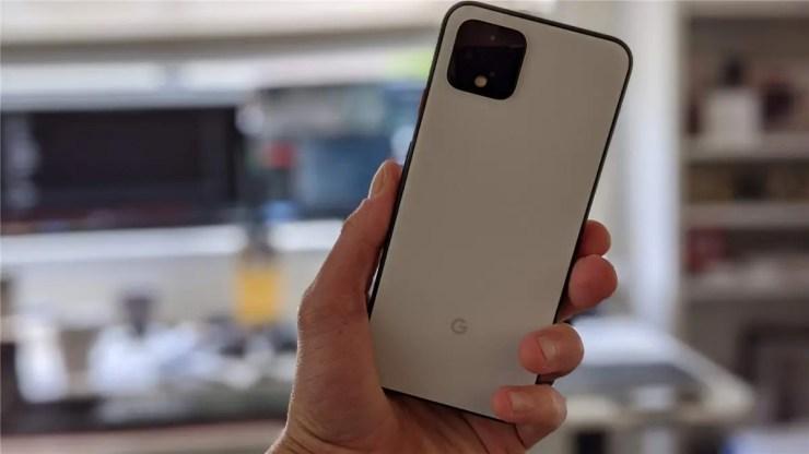 Pixel 4 in white