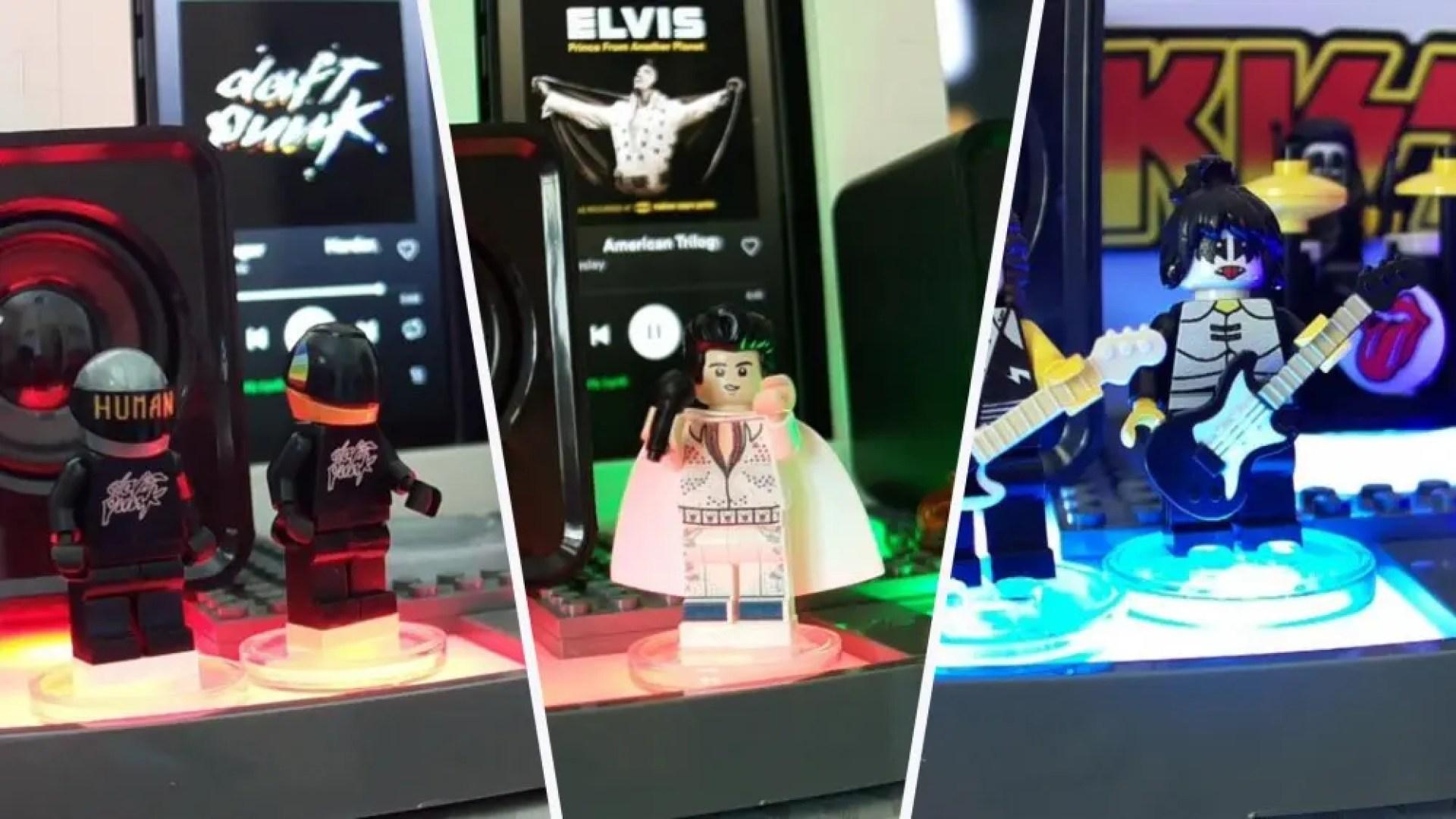 "Various LEGO Minifgs on a ""LEGO Dimensions"" portal."