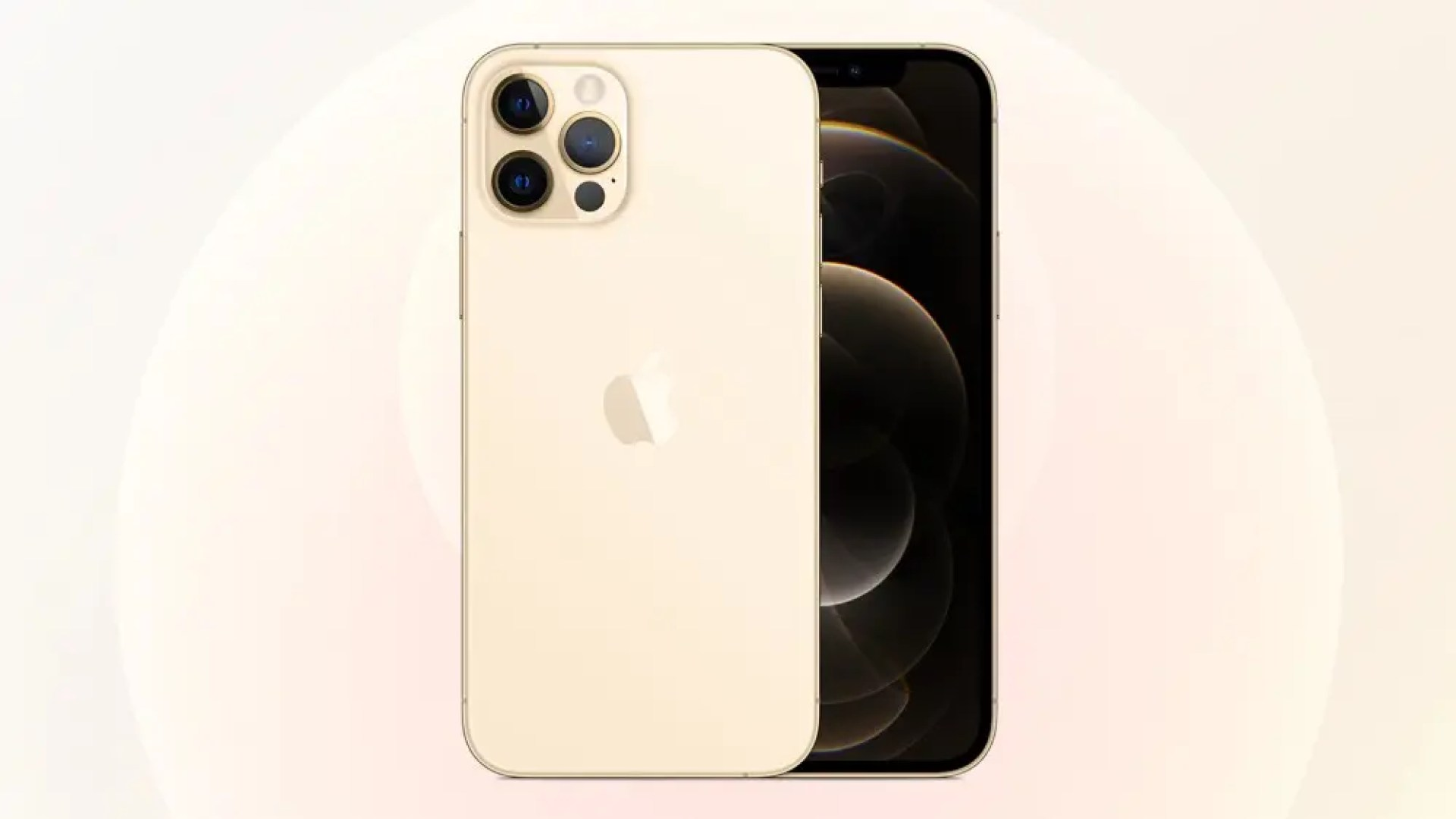 A photo of the gold iPhone 12 Pro.
