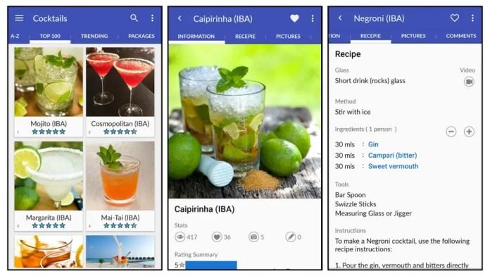 Cocktails Guru app screenshots