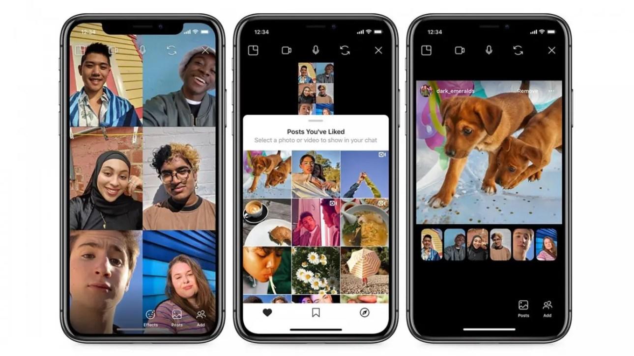 Новая функция совместного просмотра в Instagram позволяет просматривать сообщения в Instagram вместе с друзьями через видеочат.