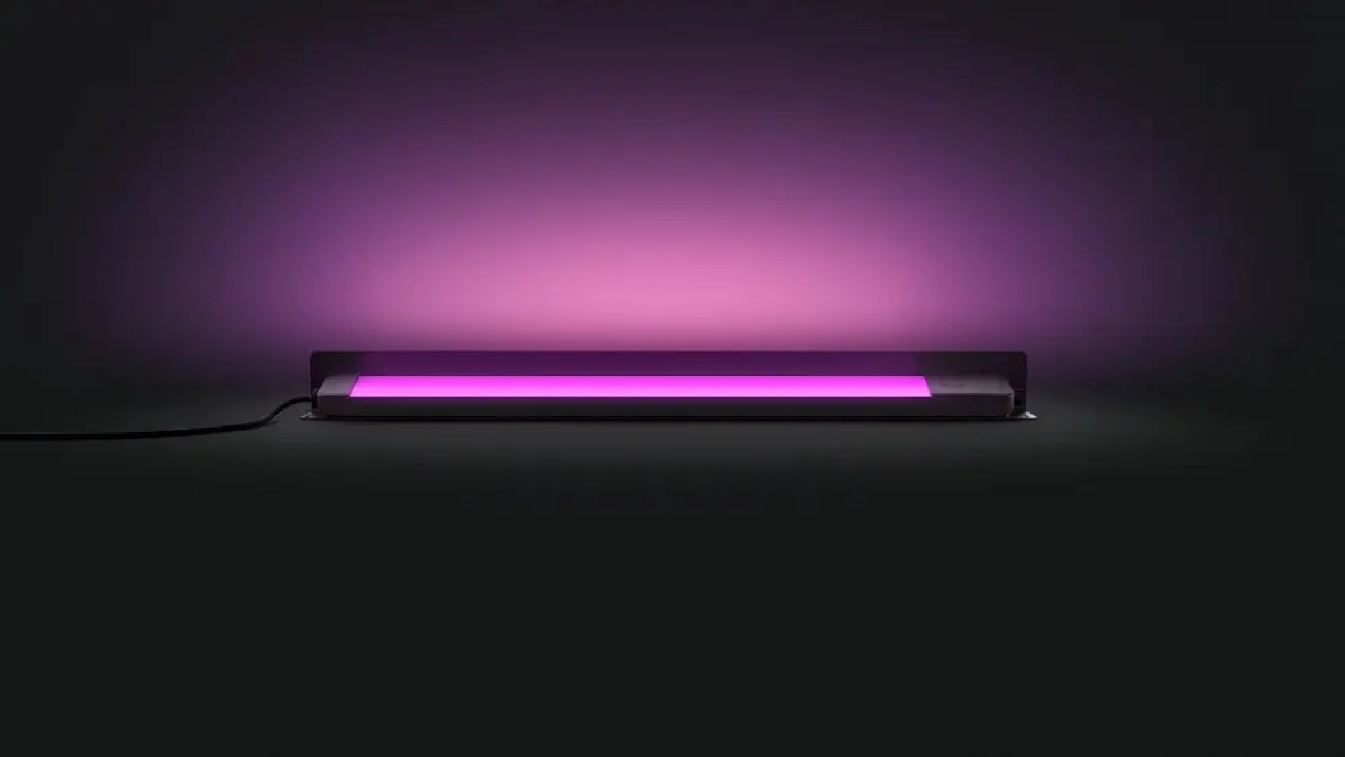 A light bar casting off purple light.