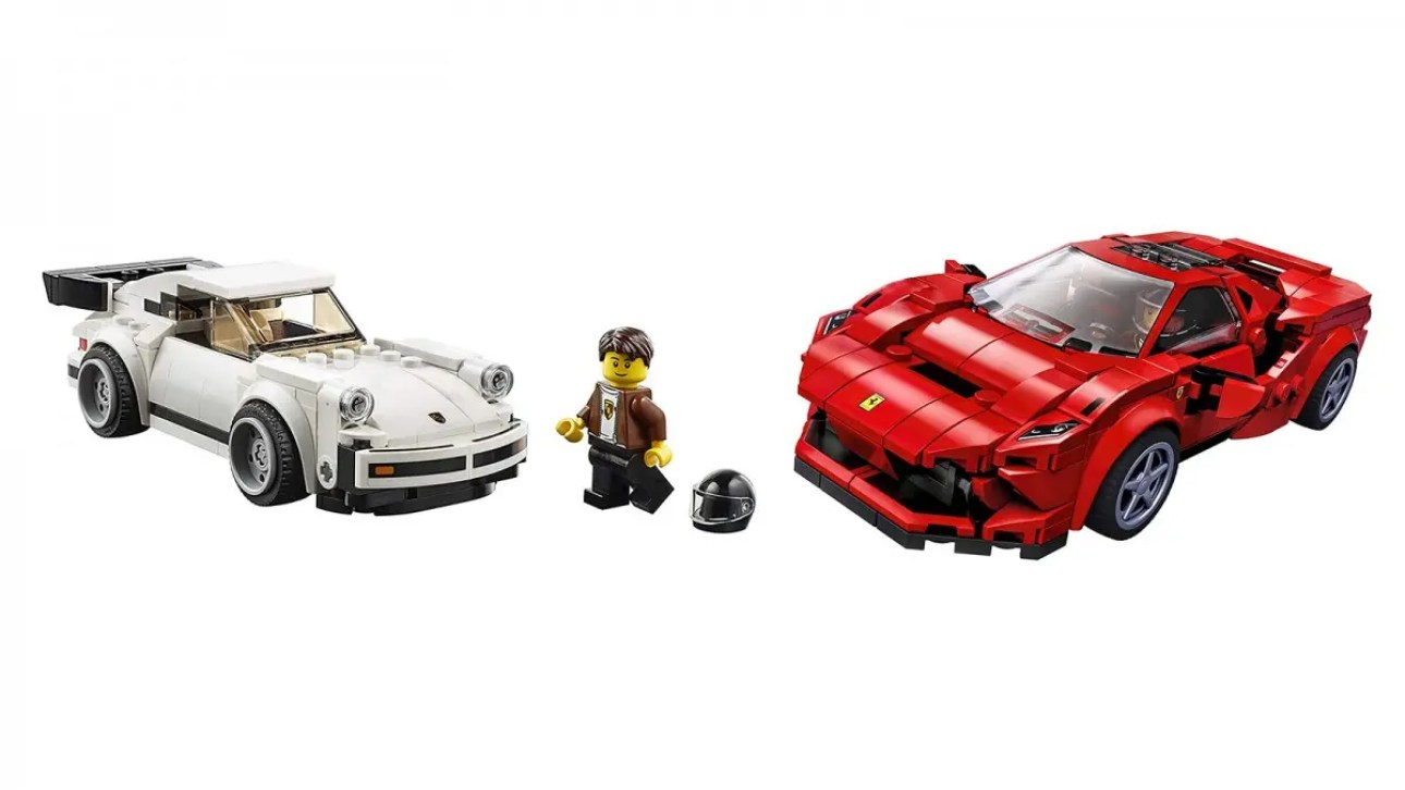 LEGO Speed Champions 1974 Porsche 911 Turbo и Ferrari F8 Tributo