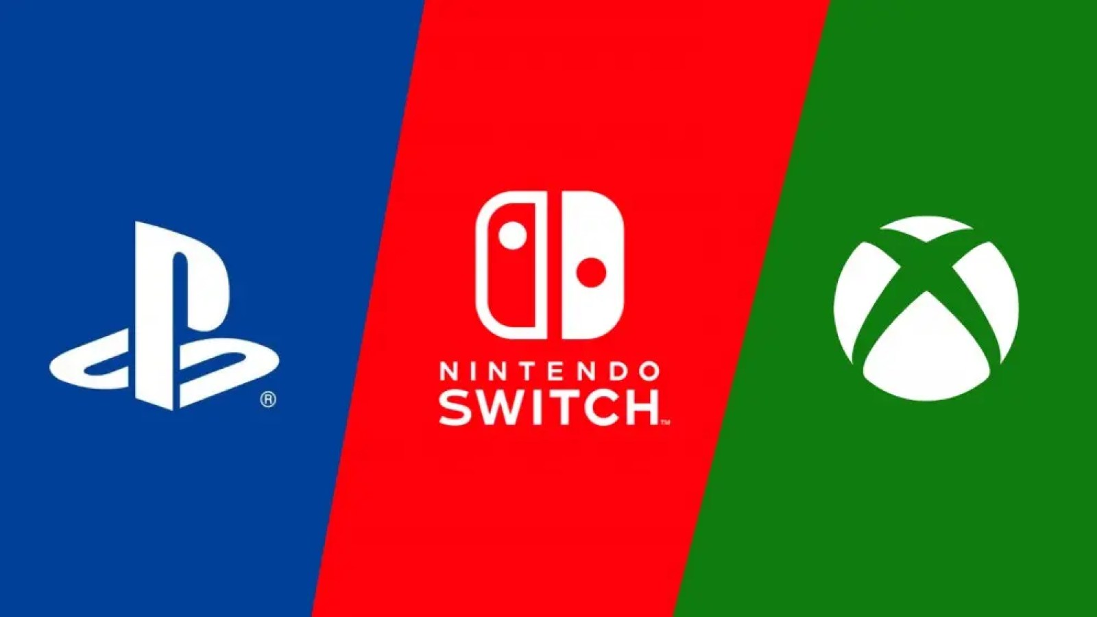 Playstation, Nintendo Switch, and Xbox Logos