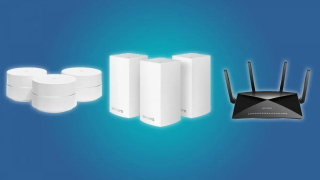 Google Wi-Fi, Linksys Velop Mesh Wi-Fi System and NETGEAR Nighthawk X10 AD7200 Router