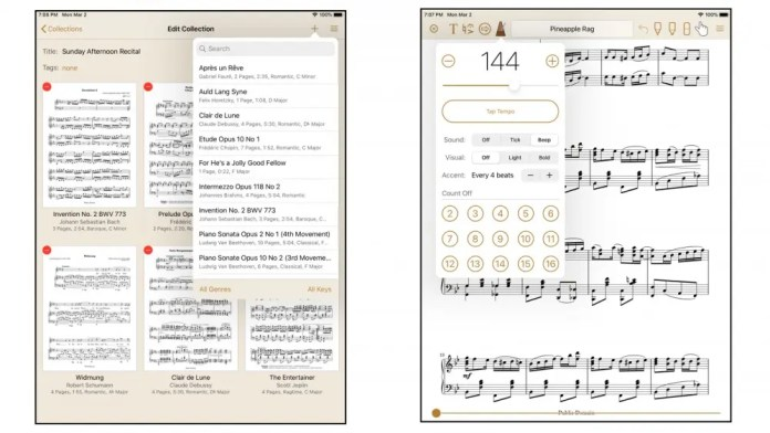 Paperless Music app for ios