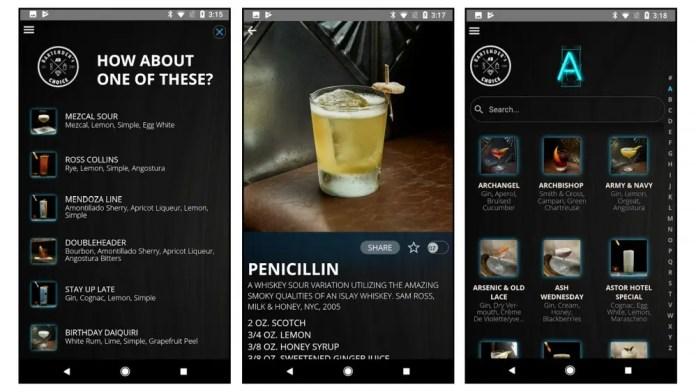 Bartender's Choice app screenshots