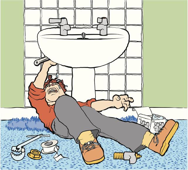 installing pedestal sink usually