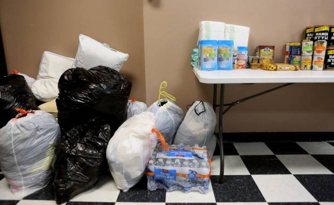 Clothes Diapers Baby Formula And Other Donated Goods Wait To Be Shipped Houston
