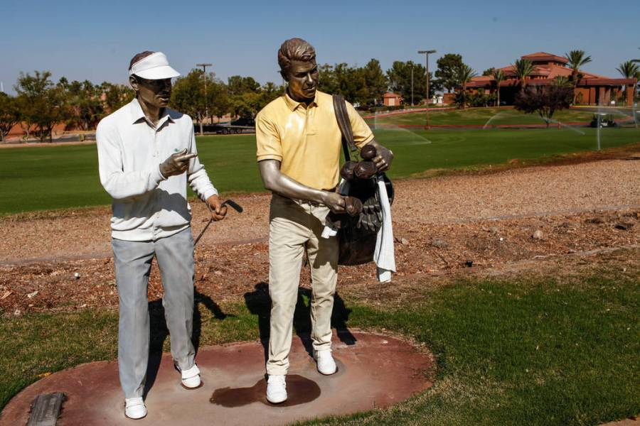 Henderson s Legacy Golf Course set to reopen     Las Vegas Review Journal Statues are placed outside at Legacy Golf Club in Henderson  Thursday  Oct   12