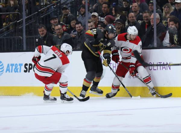 Hurricanes defeat Golden Knights in shootout, spoiling ...
