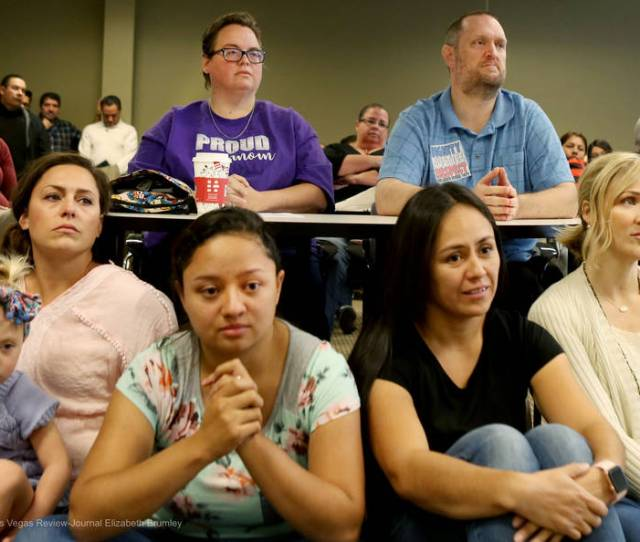 Individuals Listen To Options Shared On The Transgender Policies For The Clark County School District At