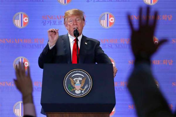 Upbeat Trump ends summit convinced Kim commited to nuclear ...