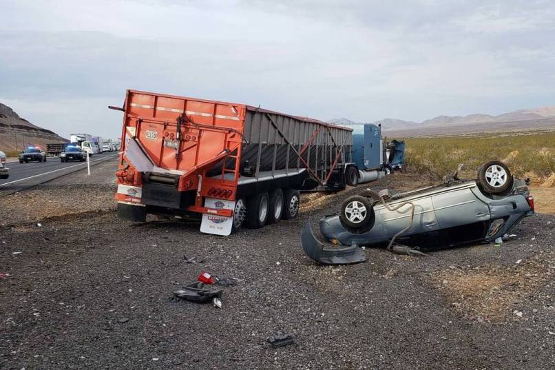 The Nevada Highway Patrol Is Investigating A Fatal Crash Involving Four Vehicles On U S 93