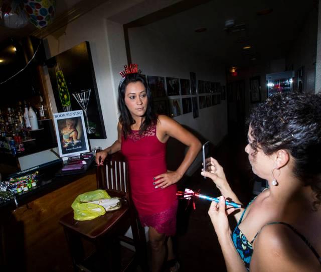 Prostitutes Cee Mia Left And Dasha Dare Talk Before A Birthday Celebration At The