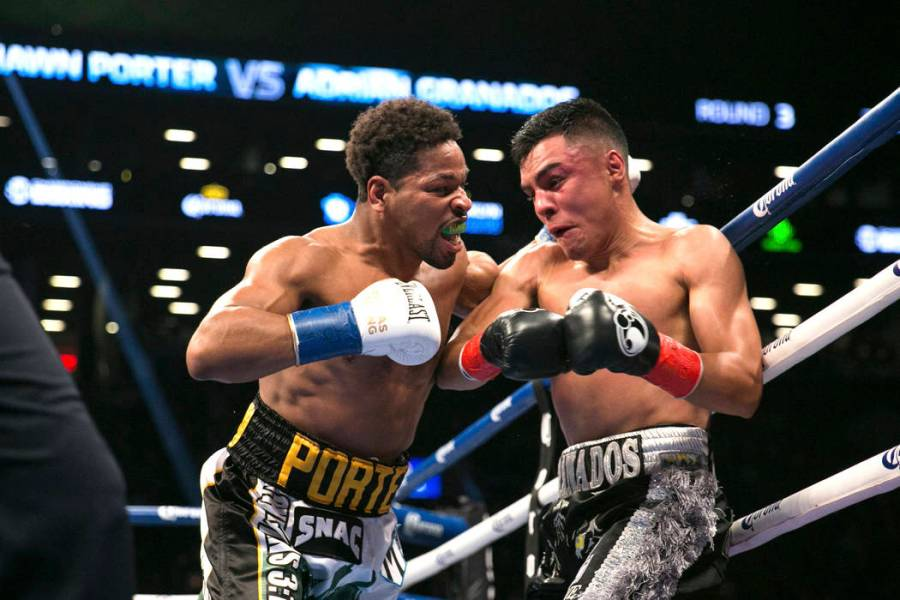 8 can t miss boxing fights this fall     Las Vegas Review Journal Shawn Porter pushes Adrian Granados against the ropes during the WBC silver  welterweight boxing bout Saturday