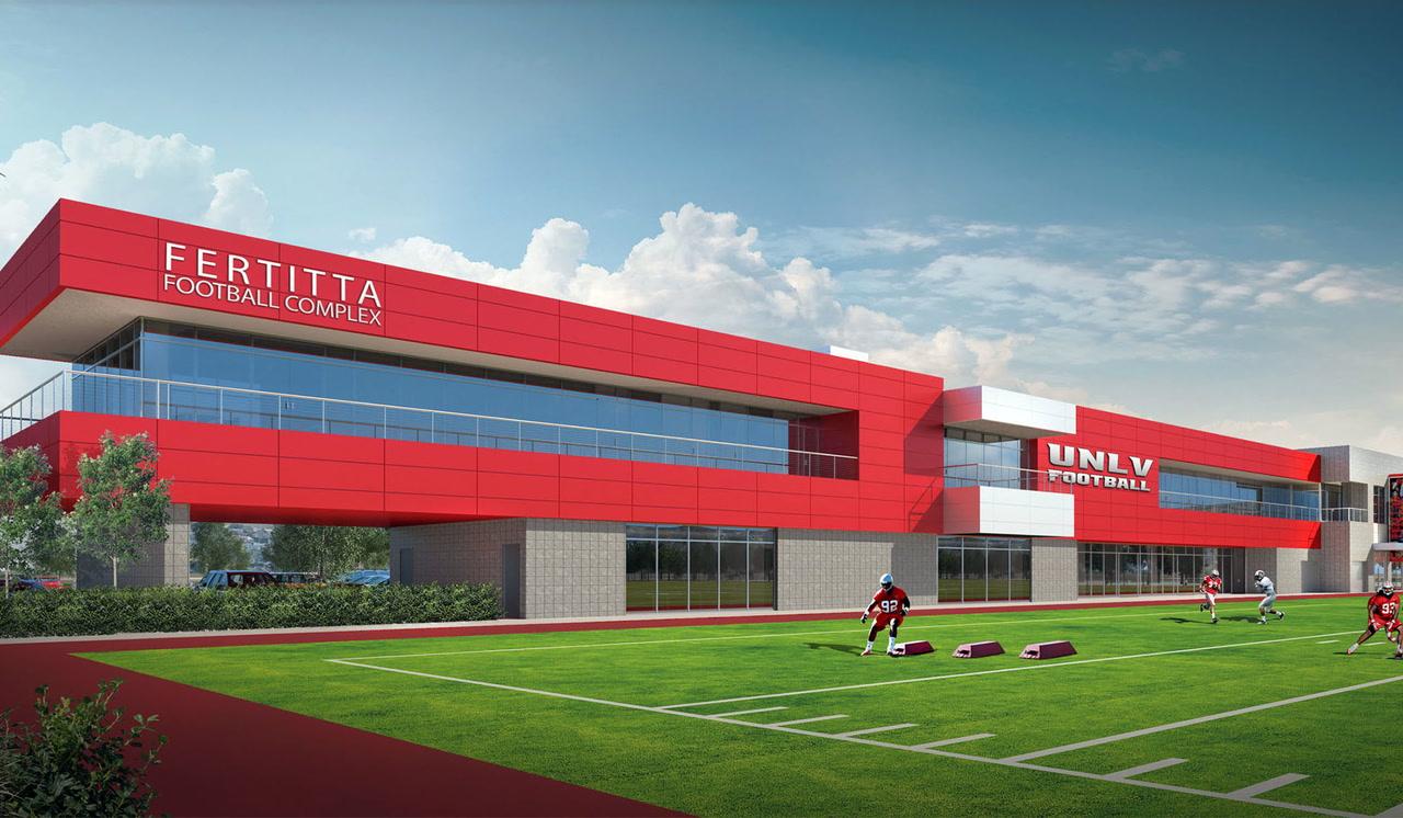 Take A Look Inside Unlv S Fertitta Football Complex