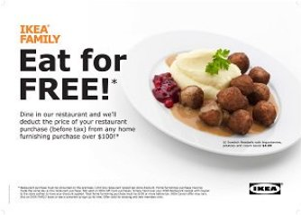 ikea eat for free