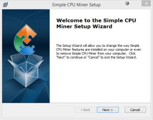 Simple CPU Miner