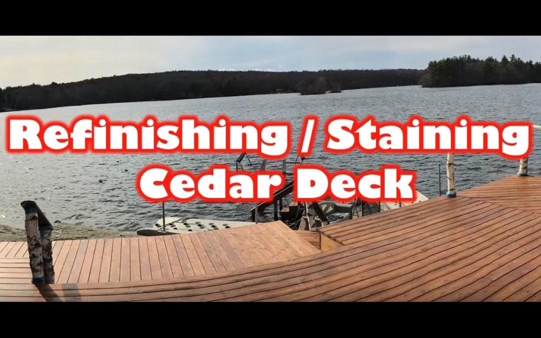 Refinishing / Staining a Cedar Deck