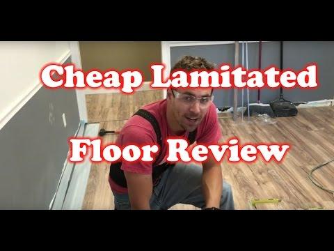 Review of Lakeshore Pecan – $0.79/SF Cheap Laminated Flooring – Home Depot