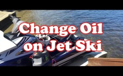 Change Oil on Jet Ski – Yamaha 2016 in the Water