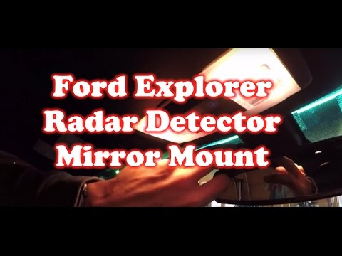 Install Radar Detector on Ford Explorer 2017 Mirror Head Unit – No Wires