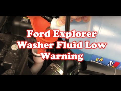 Washer Fluid Level Low Error on Ford Explorer: Fixed!