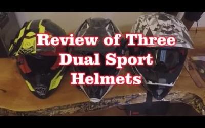 Review of Three Enduro – Dual Sport Hemlets-  Spx HJC , S&S Lunatic Fringe, LS2 pioneer