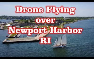 Drone Flying over Newport Harbor, RI