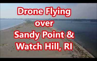 Drone Flying over Sandy Point & Watch Hill, RI