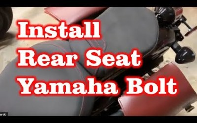 Install Rear Passenger Seat to Yamaha Bolt Motorcycle