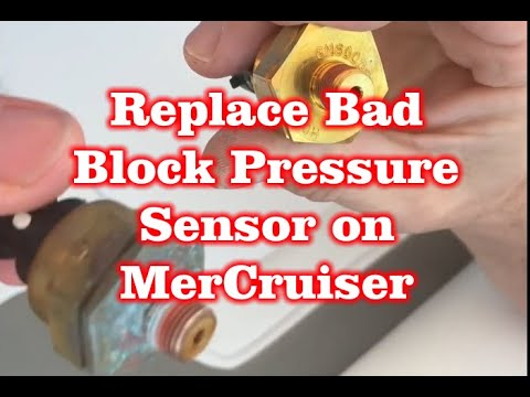 Replace a Bad Block Pressure Sensor mercruiser 350 MAG Boat Engine – 8M6000623