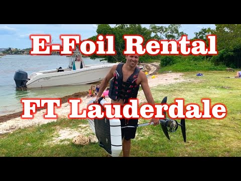 E-Foil Rental in fort lauderdale, Florida Lift Foil Board