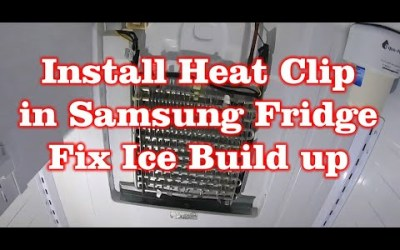 Fix Samsung Fridge Ice Build up With Heat Clip (Water Leak Fixed Permanently)