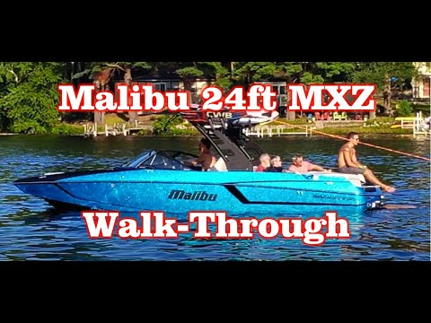 2018 Malibu Wakesetter Review MXZ 24ft – Walk-through (Wakesurfing) Review