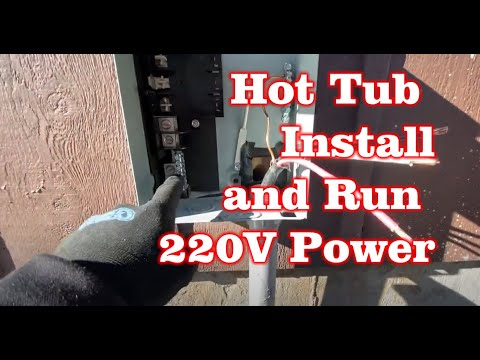 Install Costco Hot Tub and Run 220V Electric