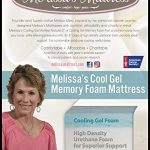 Melissa's Cool Gel Memory Foam Mattress