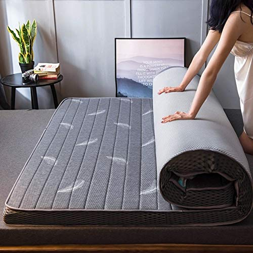 XUE XUEJIONG Natural Latex Memory Foam Filled Stereo Breathable Mattress, Thickness:6cm, Size:120X200 cm(Starry) XUE (Color : Gray Feather)