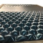 Strobel Organic Aspen Complete Waterbed 5 Board Vinyl Upholstered Black Vinyl King