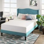 Zinus – Misty – Upholstered Platform Bed Frame/Mattress Foundation – Queen & 12 Inch Green Tea Memory Foam Mattress/CertiPUR-US Certified/Bed-in-a-Box/Pressure Relieving, Queen