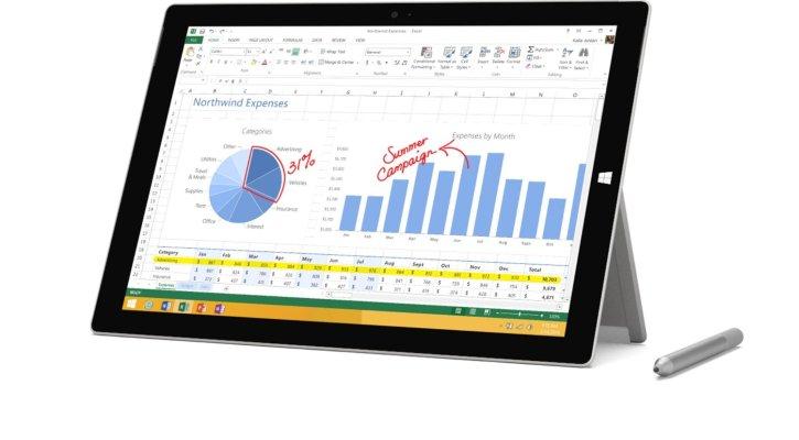 Microsoft Surface Pro 3 Windows 8.1 Pro, 128GB, Intel Core i5, 12 inch Full HD