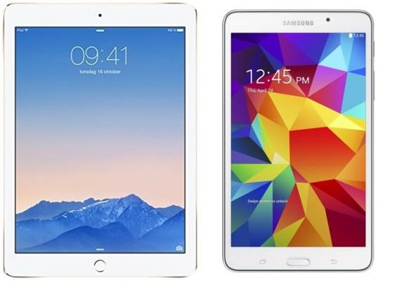Apple iPad Air 2 MH182LL-A and Samsung Galaxy Tab 4 (7-Inch, White)