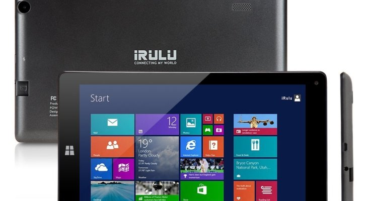 iRULU 8.9 inch Windows Tablet Quad Core, Windows 8.1 OS, 1024x600 HD Resolution