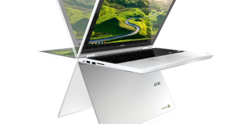 Acer Convertible Chromebook R11, 11.6 inch HD Touchscreen Notebook, White (CB5-132T-C32M), Intel Celeron N3150 Quad Core