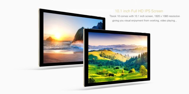 Teclast Tbook 10, 2 in 1 Tablet PC Dual OS, 10.1 inch Windows 10 + Google Android 5.1 Lollipop, IPS Screen, 4GB RAM 64GB Storage, Intel Quad Core 1.44GHz, Bluetooth 4.0 (Keyboard not Include)