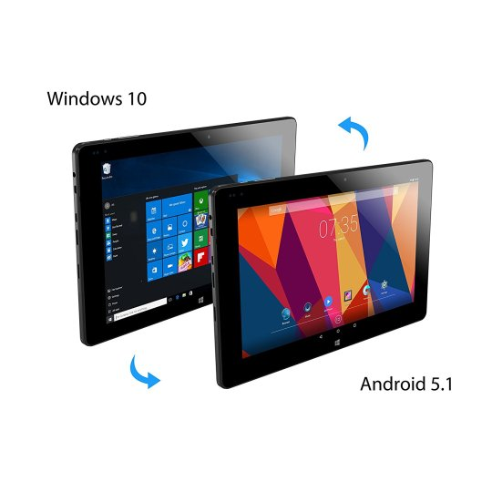 2018 ALLDOCUBE iwork10 Pro Dual OS Tablet, 2-in-1 Tablet PC with Detachable Keyboard, Windows 10 + Android 5.1
